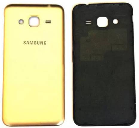 Задняя крышка Samsung Galaxy J3 (J320F, 2016) gold, сменная панель самсунг, фото 2