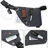 Сумка-мессенджер VOLRO Cross Body Grey + USB зажигалка SUNROZ TH-752 Black (vol-137), фото 4