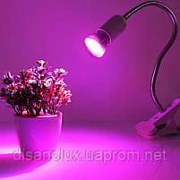 Фито лампа для растений Led 45W  E27 230V, фото 4