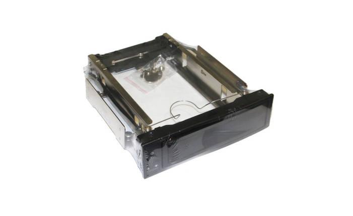 Карман внутр 5,25' Maiwo M002A для HDD 3,5' SATA через SATA безвин. крепл. нерж. сталь черн. замок+, фото 2
