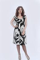 Платье летнее чёрное с белым Ада  / сукня літня чорна з білим