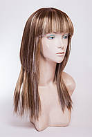 Длинный ровный парик №15,цвет мелирование пшеничный с русым и золотистым