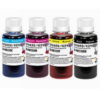 Комплект чернил ColorWay HP 121/134, 4x100 мл (CW-HW350SET01), краска для принтера нр