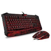 Игровой комплект Sven GS-9400 с подсветкой Black, USB, игровая клавиатура + мышь, фото 3