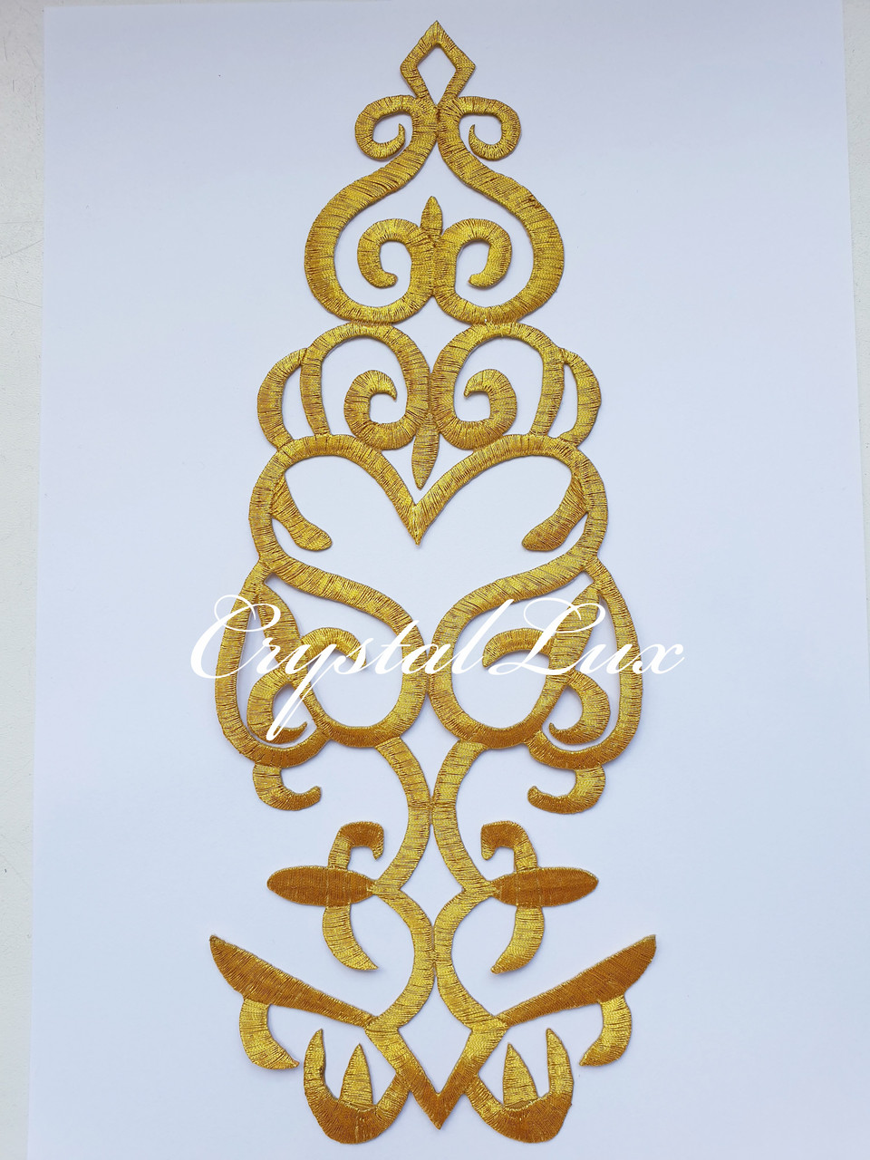 Термо аппликация 29.5*11.5 см 1шт Gold