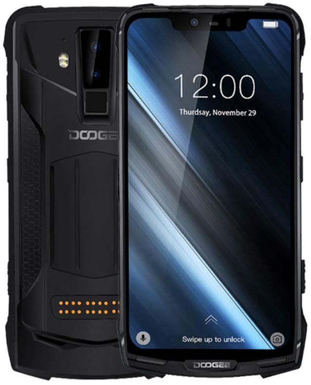 Doogee S90 4/64 Gb black IP68, NFC + power module 5000 mAh
