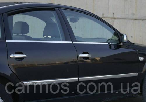 Хром накладки на ручки Seat Cordoba (сиат кордоба), нерж. 4 шт CARMOS