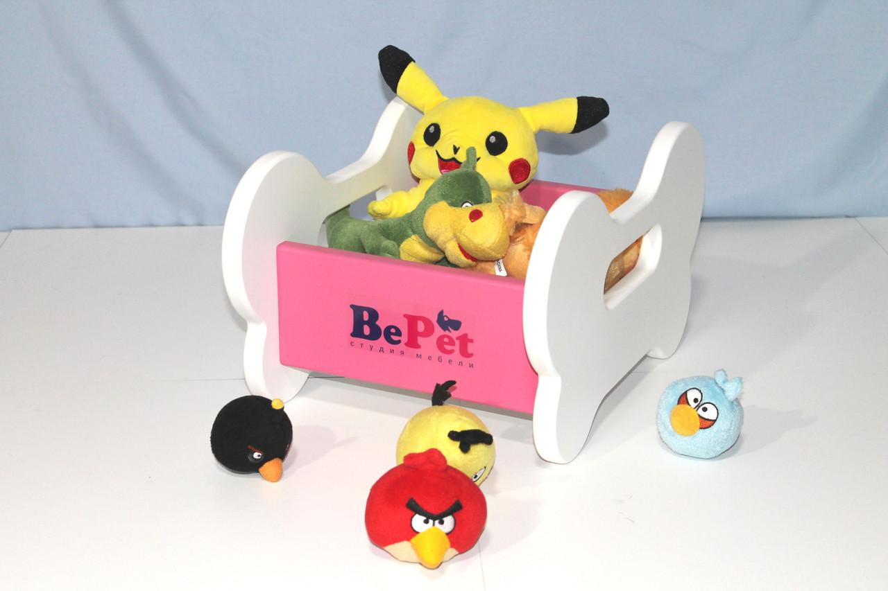 Ящик для хранения игрушек собаки BePet Бело-розовый