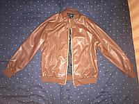 Куртка кожаная коричневого цвета (новая)