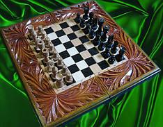 Шахи сувенірні , різьба по дереву