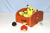 Ящик для хранения игрушек BePet-Сосна, фото 1