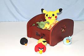 Ящик для хранения игрушек BePet-Вишня
