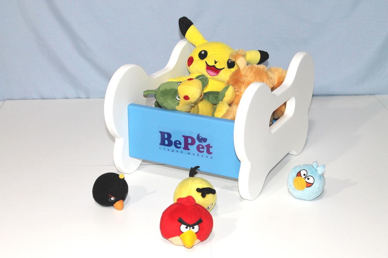Ящик для хранения игрушек собаки BePet Бело-голубой