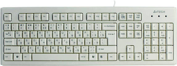Клавиатура A4tech KM-720 White, Rus+Ukr, ergonomic USB, фото 3