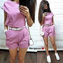 Костюм шорты с карманами+топ, размеры S. M, фото 3