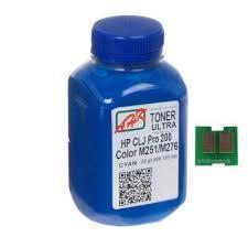 Тонер + чип HP CLJ Pro 200, M251/M276n, Cyan, АНК (1505158)