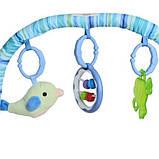 Детский шезлонг с музыкой и вибрацией. Размер 60х51х55 см. Для детей с рождения до 2 лет. Bambi 6408, фото 4