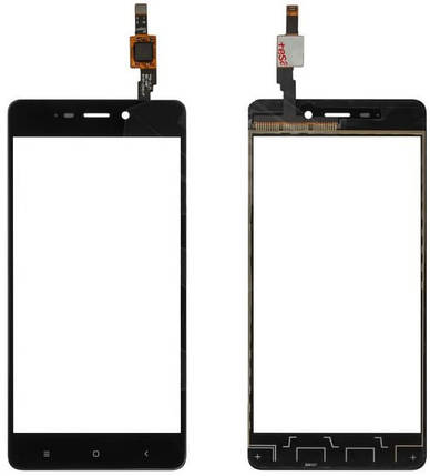 Сенсор Xiaomi Redmi 4 black (оригинал), тач скрин Сяоми Ксиоми Редми 4, фото 2