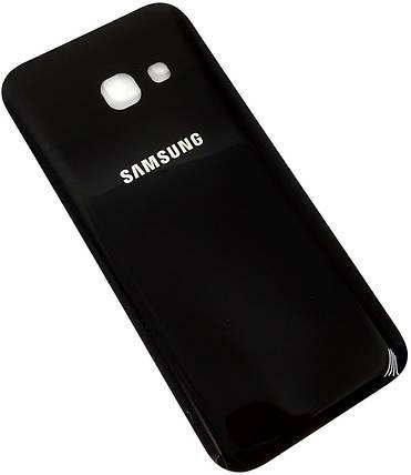 Задняя крышка Samsung Galaxy A3 (A320F, 2017) черная , сменная панель самсунг а3, фото 2