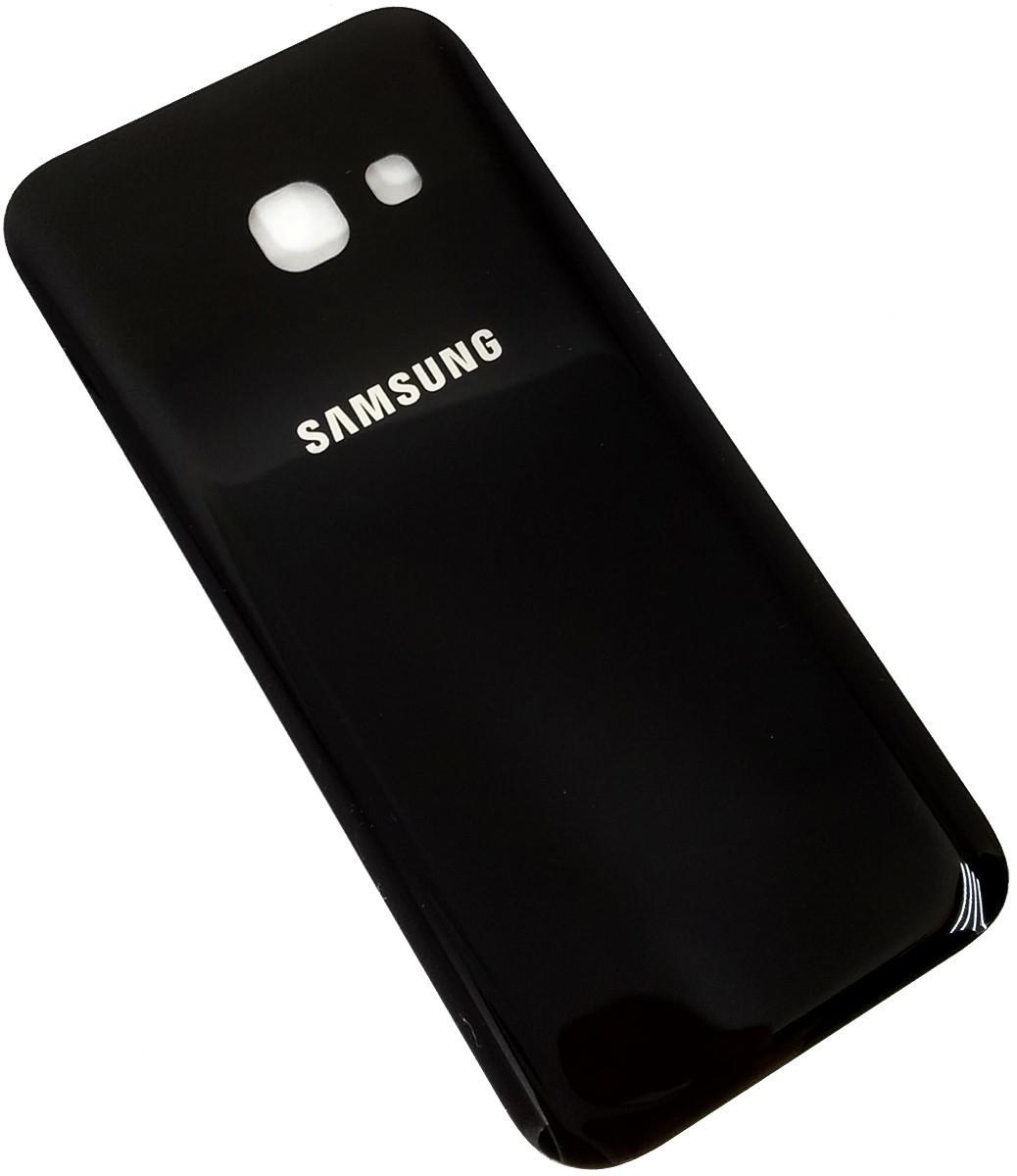 Задняя крышка Samsung Galaxy A3 (A320F, 2017) черная , сменная панель самсунг а3