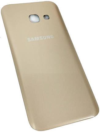 Задняя крышка Samsung Galaxy A3 (A320F, 2017) золотистая , сменная панель самсунг а3, фото 2