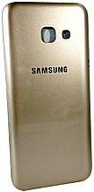 Задняя крышка Samsung Galaxy A3 (A320F, 2017) золотистая , сменная панель самсунг а3, фото 3