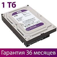 "Жесткий диск для компьютера 3.5"" 1 Тб/Tb Western Digital Purple для видеонаблюдения (WD10PURZ), винчестер hdd"