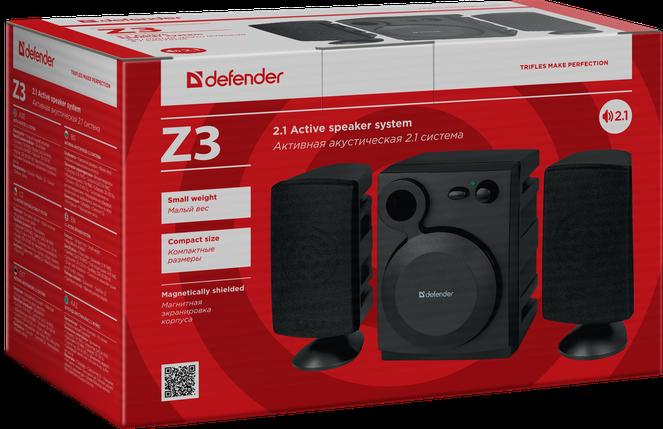 Колонки для компьютера 2.1 Defender Z3 USB, Black, акустика, акустическая система, фото 2