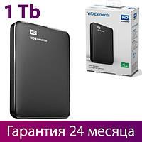 """Внешний жесткий диск 1 Тб/Tb WD Elements, USB 3.0 (WDBUZG0010BBK-WESN), портативный винчестер 2.5"""""""