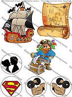 Вафельная картинка Пираты