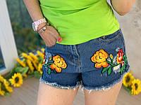 Стильные женские джинсовые шорты, синие, 211-9072, фото 1