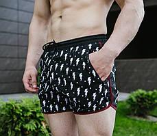Плавательные шорты мужские Pobedov Miha Molniya черные