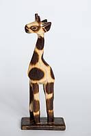 Статуэтка жираф палевый,деревянный высота 20см
