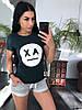 Костюм женский футболка + шорты, размеры s m l xl Турция, фото 2