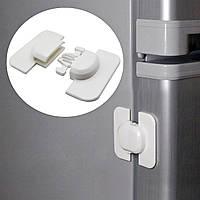 Замок - защита на холодильник от детей Seria. Блокиратор двери холодильника белый.