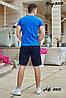 Мужской молодежный летний спортивный костюм: шорты и футболка, реплика Nike, фото 2