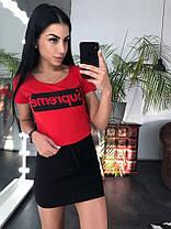 Костюм футболка + юбка, размеры s m l xl Турция, фото 3