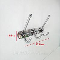 Планка на 3 крючка 17.0 см, фото 1