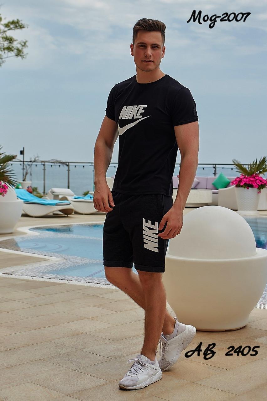 Мужской молодежный летний спортивный костюм: шорты и футболка, реплика Nike