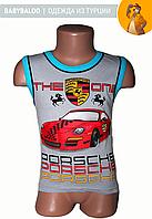 """Майка кант для мальчика """"Porsche"""" (от 4 до 8 лет)"""