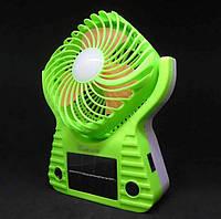Вентилятор портативный с солнечной батареей Solar 220В USB батарейка 3хD FANP JA-1991