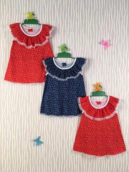 Детское летнее платье с оборкой Дарина 80 - 122 см