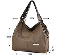 Стильная женская сумка WeidiPolo— цвет хаки