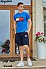 Мужской молодежный летний спортивный костюм: шорты и футболка, реплика Tommy Hilfiger, фото 3