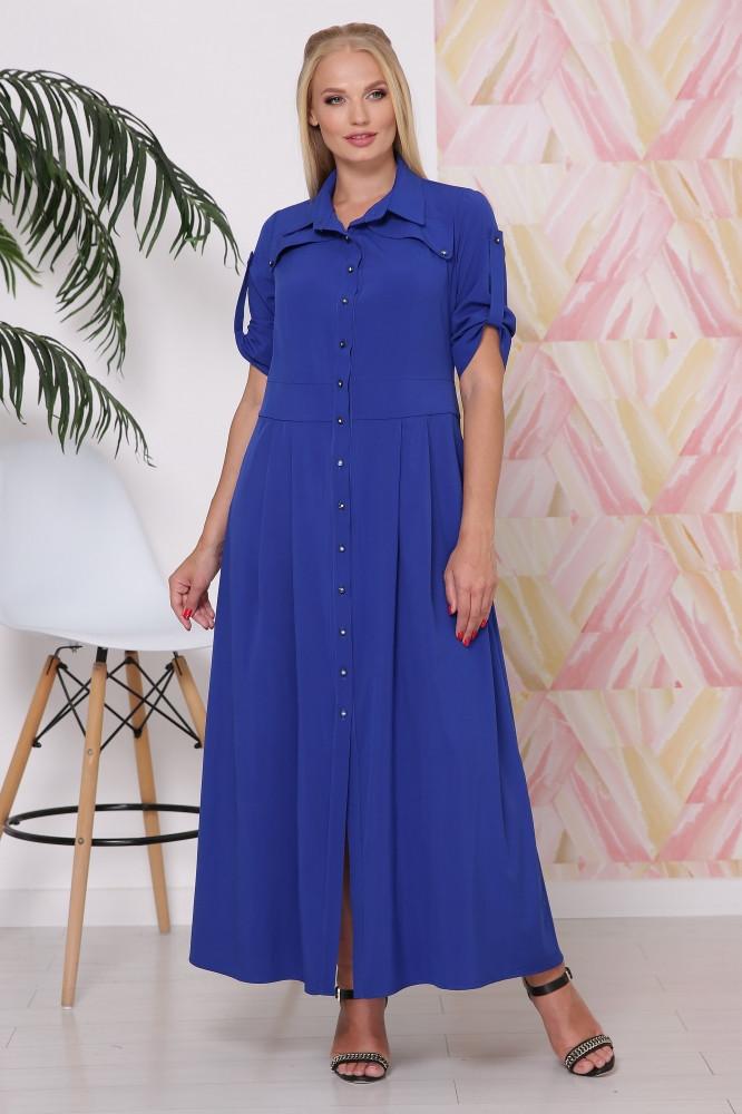 Платье рубашка макси с  50 по 54 размер