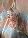Парик длинный прямой жемчужный блонд с пробором FANLAN-24BT613N, фото 3
