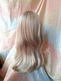 Парик длинный прямой жемчужный блонд с пробором FANLAN-24BT613N, фото 4