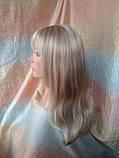 Парик длинный прямой жемчужный блонд с пробором FANLAN-24BT613N, фото 7