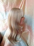 Парик длинный прямой жемчужный блонд с пробором FANLAN-24BT613N, фото 8