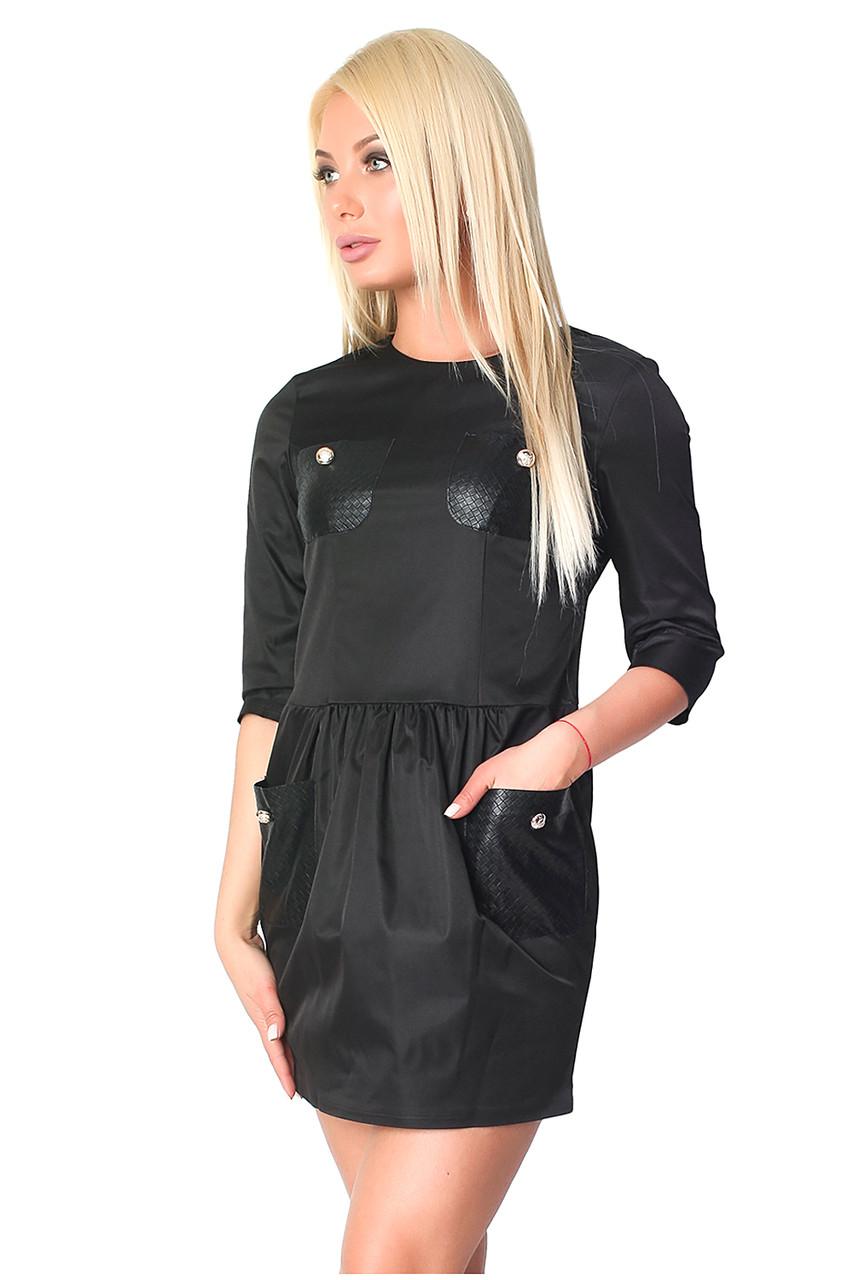 Молодежное приталенное платье (в расцветках 40-44)